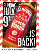 Harpoon Sriracha Blonde Exclusive Barcade® Beer Release — July 9, 2017 at Barcade® in New Haven, CT (Only Available at Barcade Locations)