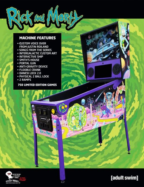 Rick and Morty (pin) — 2020 at Barcade® in New Haven, CT | arcade video game flyer graphic
