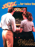 Joust — 1982 at Barcade® in New Haven, Connecticut | arcade game flyer graphic