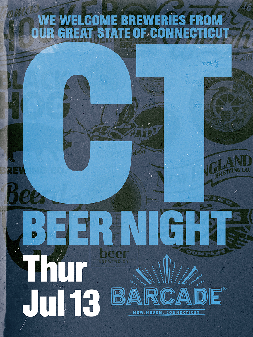 Connecticut Breweries Night — July 13, 2017 at Barcade® in New Haven, CT