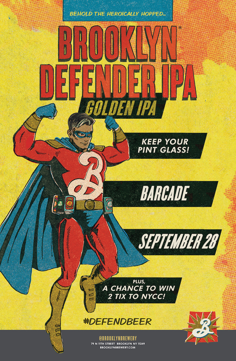 Brooklyn Defender Pint Night — September 28, 2017 at Barcade® in New Haven, Conn.