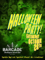 Barcade Halloween Party — October 28, 2017 in New Haven, CT | Spooky Tap List and music play list