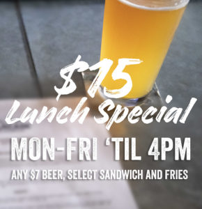 Barcade New Haven Lunch Special - $15 Lunch Special Monday through Friday 12pm to 4pm - Any $7 Beer, Select Sandwich and Fries