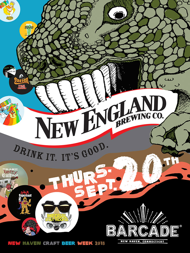 New England Brewing Co.Night — September 20, 2018 at Barcade® in New Haven, CT