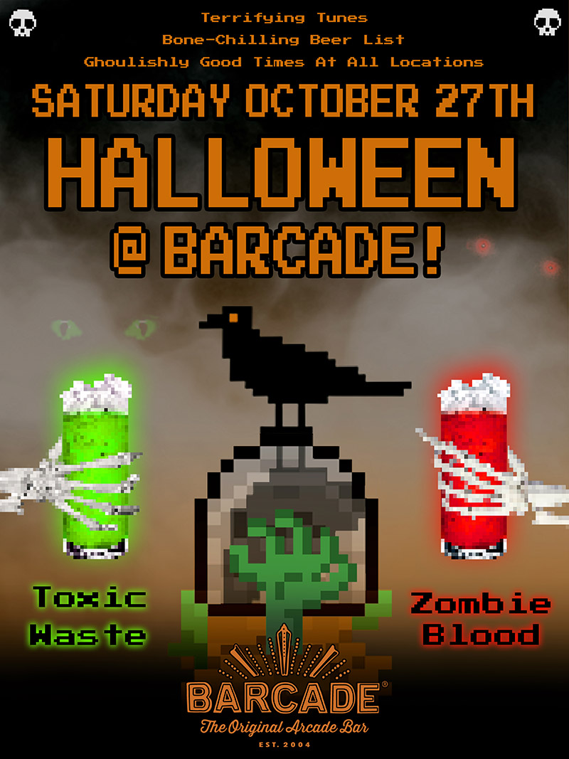 Barcade® Halloween — October 27, 2018 at Barcade® in New Haven, CT