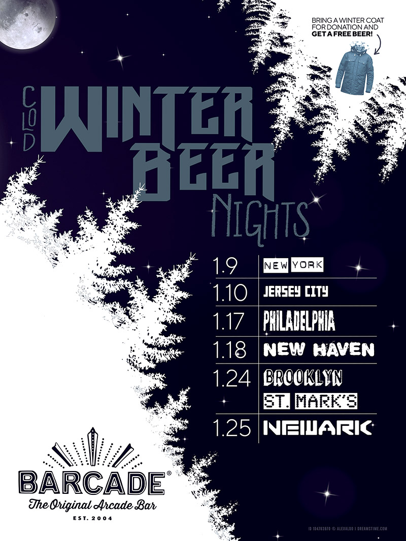 Winter Beer Night — January 18, 2019 at Barcade® in New Haven, Connecticut