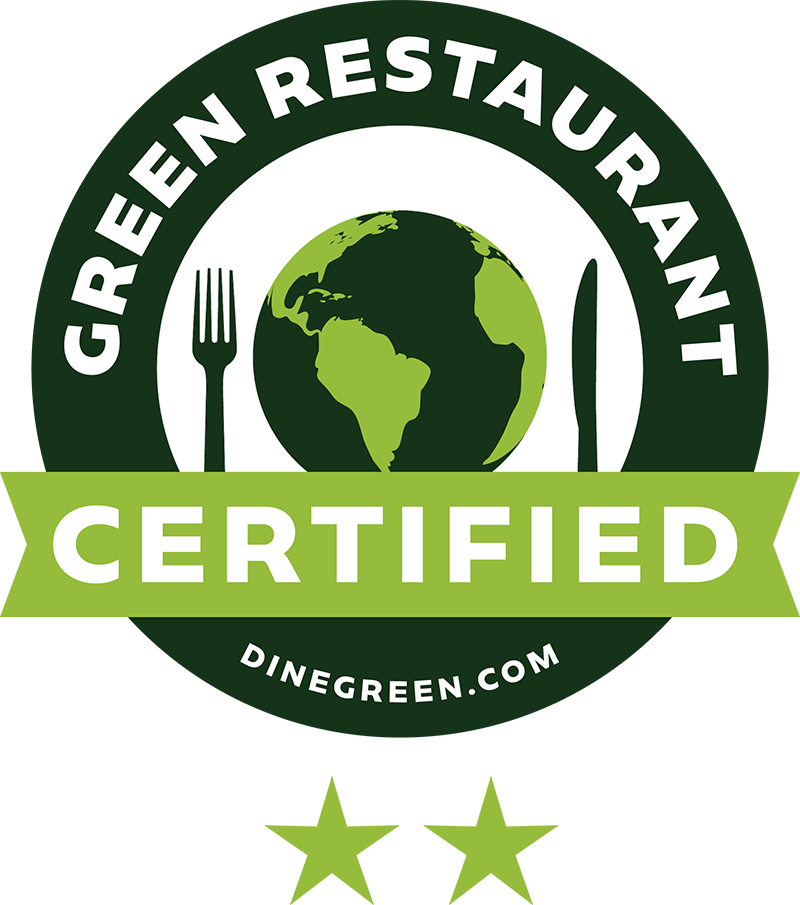 Barcade | Green Restaurant Association Certified Two Star Logo | Dinegreen.com