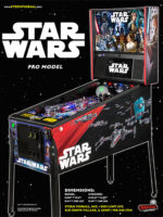 Star Wars Pro (pinball) — 2017 at Barcade® in New Haven, Connecticut | arcade game flyer graphic