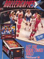 Rollergames — 1990 at Barcade® in New Haven, Connecticut | arcade game flyer graphic