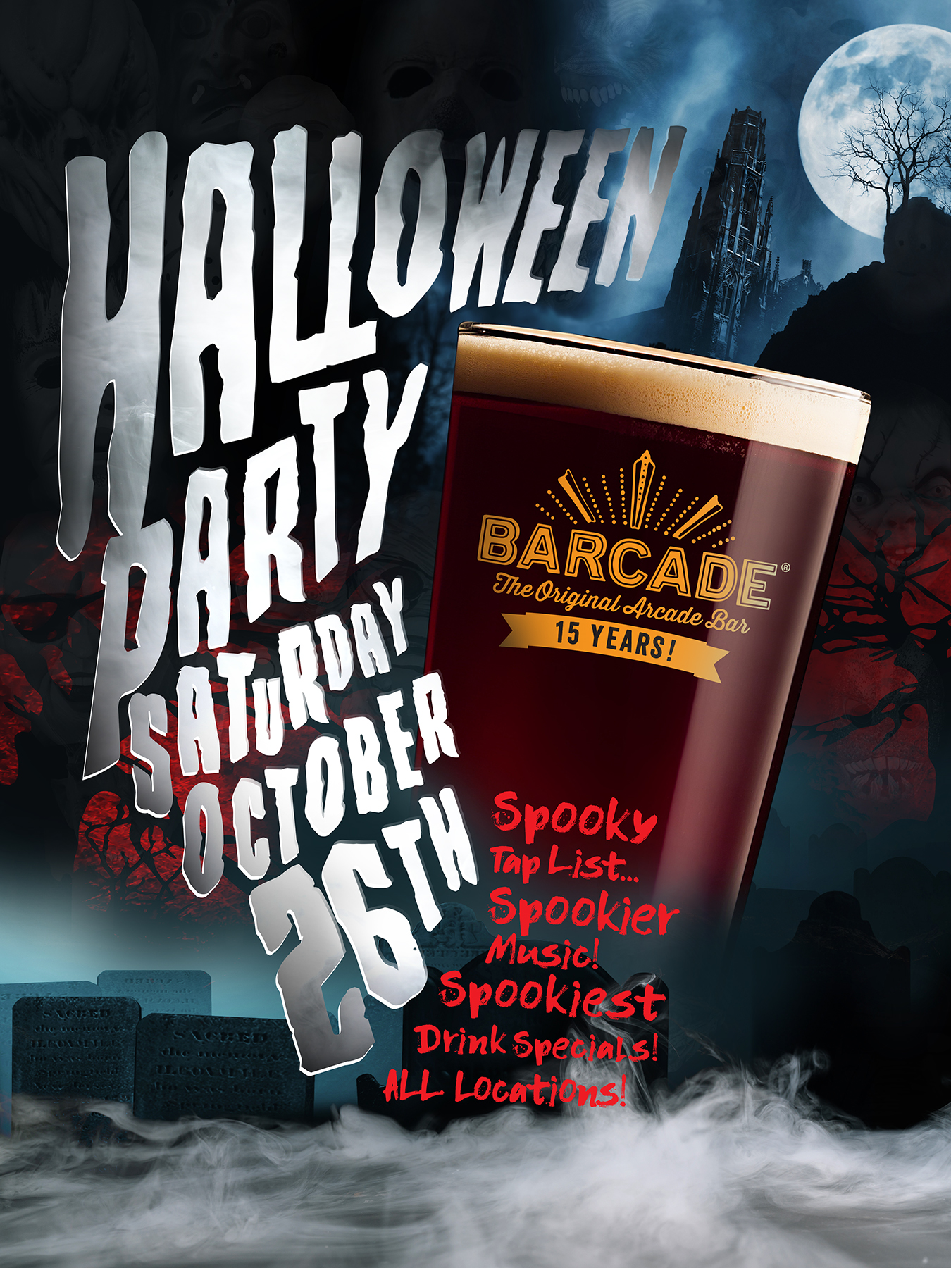 Barcade Halloween — October 26, 2019 at Barcade® in New Haven, Connecticut | poster
