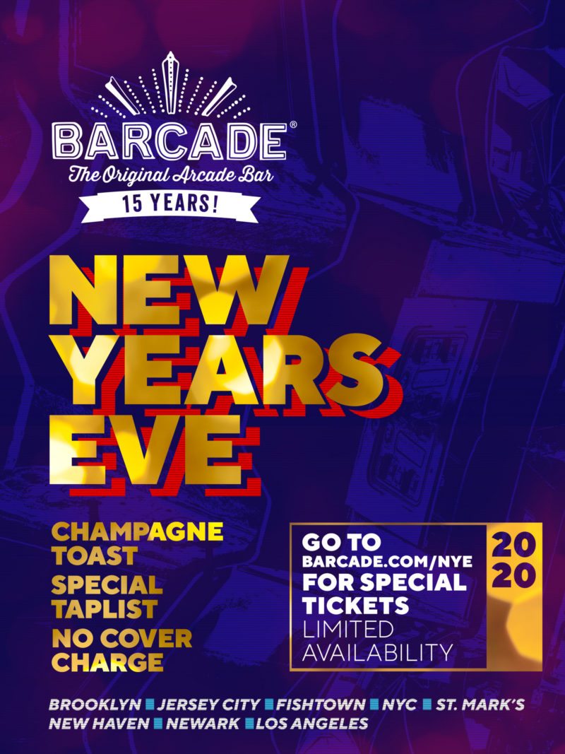 New Years Eve at Barcade on Tuesday, December 31st 2019 in New Haven, CT