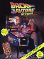 Back to the Future (pinball) — 1990 at Barcade® in New Haven, Connecticut | arcade game flyer graphic