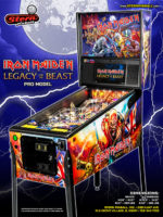 Iron Maiden Legacy of the Beast (pinball) — 2018 at Barcade® in New Haven, Connecticut | arcade game flyer graphic
