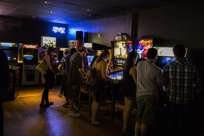 Barcade New Haven arcade games and patrons