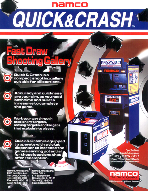 Quick and Crash — 19991 at Barcade® in New Haven, Connecticut | arcade video game flyer graphic
