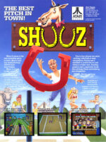 Shuuz — 1990 at Barcade® in New Haven, Connecticut | arcade video game flyer graphic