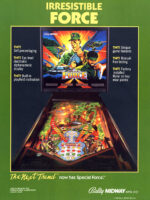 Special Force (pinball) — 1986 at Barcade® in New Haven, Connecticut | arcade video game flyer graphic
