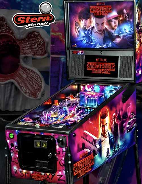 Stranger Things (pinball) — 2019at Barcade® in New Haven, Connecticut   arcade video game flyer graphic