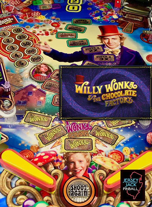 Willy Wonka and the Chocolate Factory (pinball) — 2019 at Barcade® in New Haven, Connecticut   arcade video game flyer graphic
